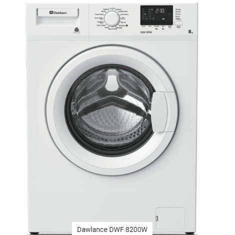 Dawlance Auto Washing Machine Front Load - DWF 8200W
