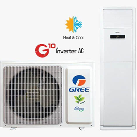 Gree AC FLOOR STANDING UNIT INVERTER (HEAT AND COOL) GS-48FWITH